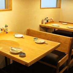 1階のテーブルは2名様~4名様のお席です。