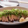 料理メニュー写真親鶏ももタタキ(しょうがにんにく or 柚子胡椒)