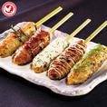 鶏串の他にも野菜串など豊富な種類の焼きい鳥&串料理!お酒との美味しいコラボが楽しめます。