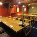 2Fのテーブル個室は最大30名様での個室宴会が可能です。少人数でのご宴会にもご対応しております。