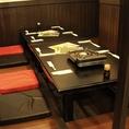 <掘りごたつ8名テーブル>ちょっとした宴会などにも!広々空間です