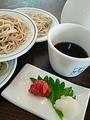 料理メニュー写真梅おろし皿蕎麦