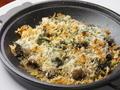 料理メニュー写真黒ツブ貝とマッシュルームの香草パン粉焼き