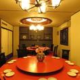 [2階×完全円卓個室]盛り上がること間違いなし!の豪華な円卓個室!会社宴会にも最適な空間となっております♪7~24名でご利用いただける完全円卓個室空間となっております★