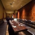 最大61名様OK!!ソファVIP席です。10名様以上でご利用いただけます。こちらも人気のお部屋のため、ご予約がおすすめです。