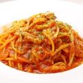 料理メニュー写真山武産ベーコンとトマトのスパゲッティ