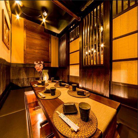 ◆テーブル半個室◆2名様から団体様までご利用可能です。想い出に残るようなご宴会をお過ごし頂けるよう心を込めてお作りするお食事とお酒をご用意してお待ちしております。ランチタイムから深夜まで営業しているので、上野でのお出かけ帰りにもぜひご来店下さい。