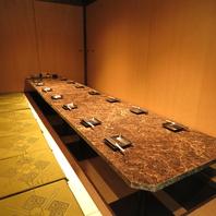 大小さまざまな個室を用意