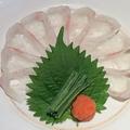 料理メニュー写真白身魚の薄造り