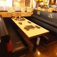 ご家族でも利用しやすい6名様掛けのテーブル席