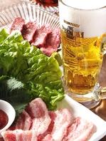 頑張った一日の終わりは、焼肉&ビールで自分にご褒美!