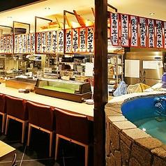活気のある1Fオープンキッチン!カウンターで食べるのも楽しみ!