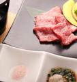 料理メニュー写真霜降り松阪牛陶板焼き