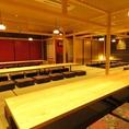 2Fの座敷個室は最大70名様での個室宴会が可能です。