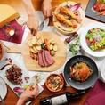 【彩り鮮やかなイタリアン】シェフオリジナルの料理の品々。コースでもお楽しみいただけます!ボリュームもたっぷりのコースは2980円~。2時間飲み放題付きで女子会にもぴったりです♪