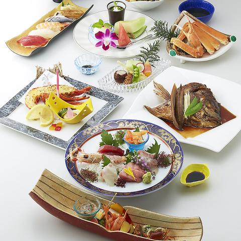 料理長おまかせコース11品6720円(税・サ込)*焼き物はロブスターか牛肉のステーキか選べます