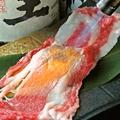 料理メニュー写真和牛の握り(3貫)/炙り和牛寿司