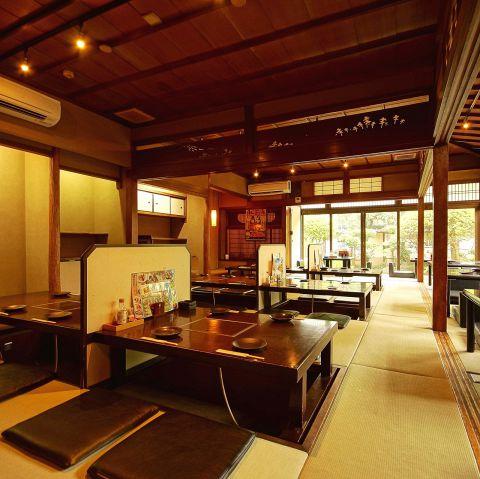 本格的日本庭園の見える広間でのご宴会は最大50名様までOK!お昼の宴会も承り中!!最高の景色を貸切にするチャンス!高槻での飲み会・宴会など各種飲み会は贔屓屋におまかせください!