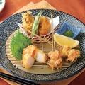 料理メニュー写真天ぷら貝三種