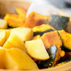季節野菜の蒸し焼き