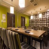 最大宴会人数は18名様迄対応可能な完全個室ご用意
