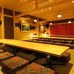 2Fの座敷個室は左側で20名様での個室宴会が可能です。
