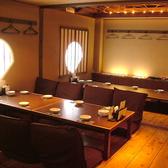 大小さまざまな個室をご用意。35名様まで入れる宴会スペースは、座椅子になっていて楽ちん♪