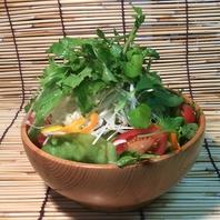 無農薬野菜のサラダ!