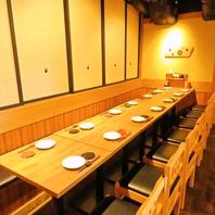【奥のテーブル席】4名~最大30名までの宴会もOK!