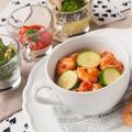 料理メニュー写真小エビとお野菜のトマトクリームスパゲッティ