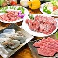 料理メニュー写真【B】三種のカルビ付き焼肉セット