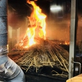 鮮魚の藁焼きは注文が入ってから作ります!藁焼き専用の焼き場を完備!