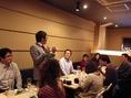 酒造さんを招いて開催しております利き酒、『日本酒の会』の雰囲気