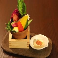 朝採れ野菜のバーニャカウダ 明太マヨディップ