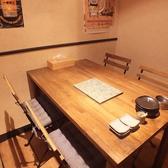 半個室のテーブル席。いろんなシーンで使いがって◎