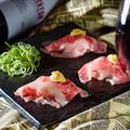 料理メニュー写真炙り赤身肉寿司
