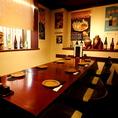 テーブル席は宴会用にご利用頂く事も出来ます。週末はご連絡、ご予約頂くのが確実です。