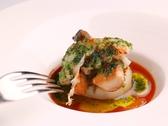 帆立貝と手長海老の網焼きガーリック風味