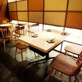 ランチ・食事使いにもばっちりなテーブル席