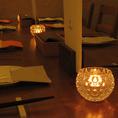 雰囲気溢れるテーブル席となります♪落ち着いた雰囲気のゆったり寛ぎ空間です。飲み会や女子会や合コン、誕生日・記念日などに最適な、お洒落な個室をご用意してお待ちしております。