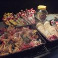 昔懐かしの味♪駄菓子はお好きなものをご自由にお取りください!(※お持ち帰りはご遠慮下さい。)