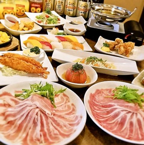 【たら福コース】しゃぶしゃぶと一品料理58品食べ放題2480円(税抜)!
