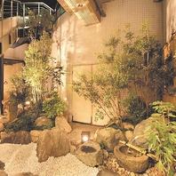 趣のある和風庭園を眺めながらすき焼き・しゃぶしゃぶ…