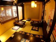 6名様個室×2、最大14名様のお座敷席あり。