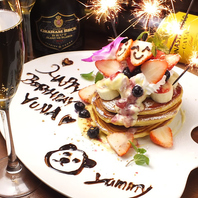 誕生日にはパンケーキにサプライズメッセージ!