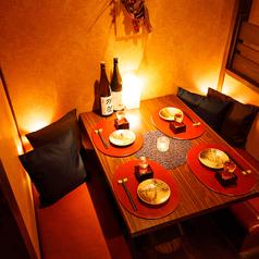 洗練された上質な大人の為の個室席は、お客様一人一人にゆったりとしたプライベートなお時間をご提供致します♪少人数様から団体様まで、人数様に合わせて広々個室席もご用意!cf各種ご宴会に最適◎