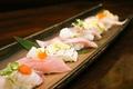 料理メニュー写真特製地魚にぎり盛り(七貫)