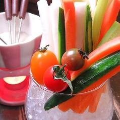 料理メニュー写真スティックサラダ バーニャカウダー付き