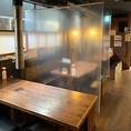 店内アルコール除菌、換気の徹底、お客様の席の間隔と感覚、従業員の衛生管理面。万全の準備でお迎えいたします!