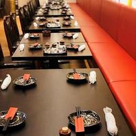 最大100名様まで収容可能な宴会個室完備